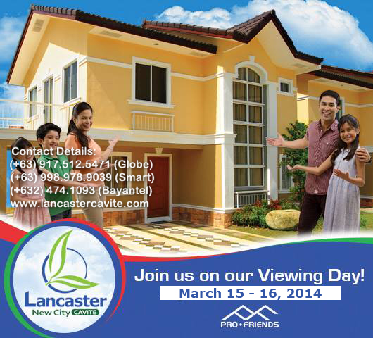 Viewing Day at Lancaster New City on March 15 – 16, 2014