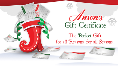 BUYER'S PROMO – ANSON'S GIFT CERTIFICATES