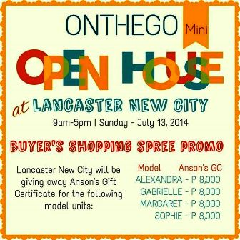 ONTHEGO Mini OPEN HOUSE at Lancaster New City
