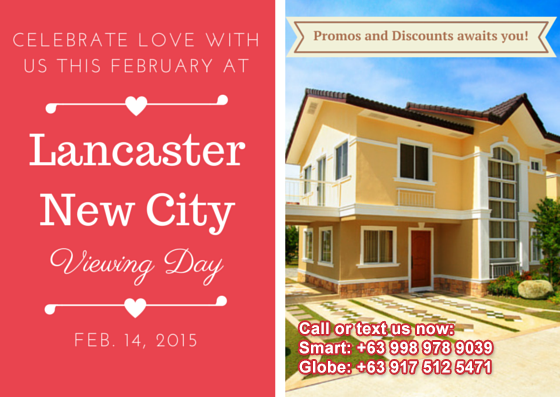 Celebrate love with us this February 14 at Lancaster New City Cavite!