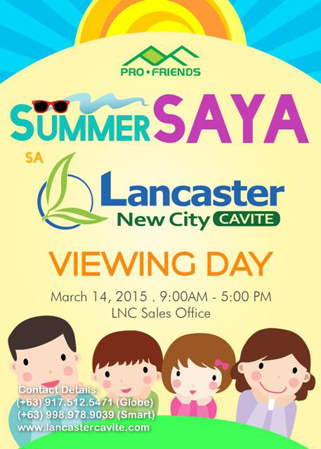 SUMMER SAYA SA LANCASTER NEW CITY!