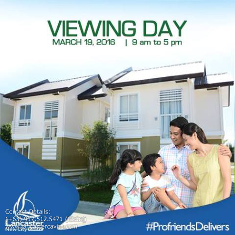 JOIN OUR VIEWING DAY! GET DISCOUNTS FOR MARCH 19-20, 2016 ONLY.
