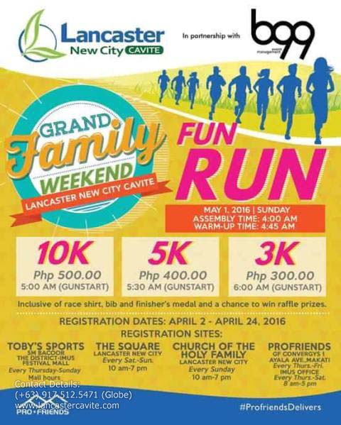 FUN RUN AT THE LANCASTER NEW CITY