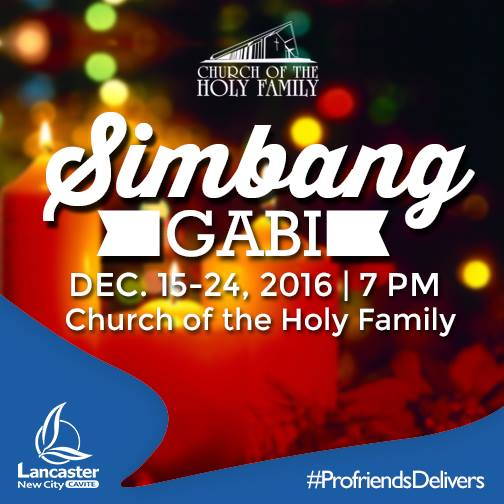 SIMBANG GABI AT LANCASTER NEW CITY!