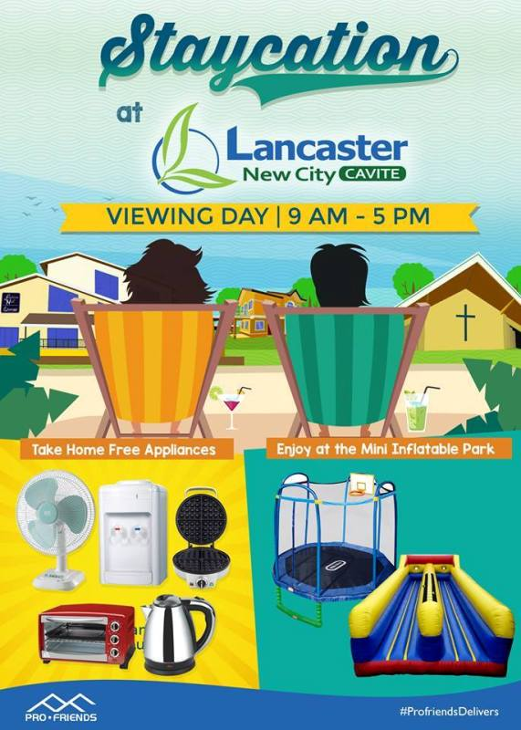 STAYCATION AT LANCASTER NEW CITY!  VIEWING DAY APRIL 22, 2017!