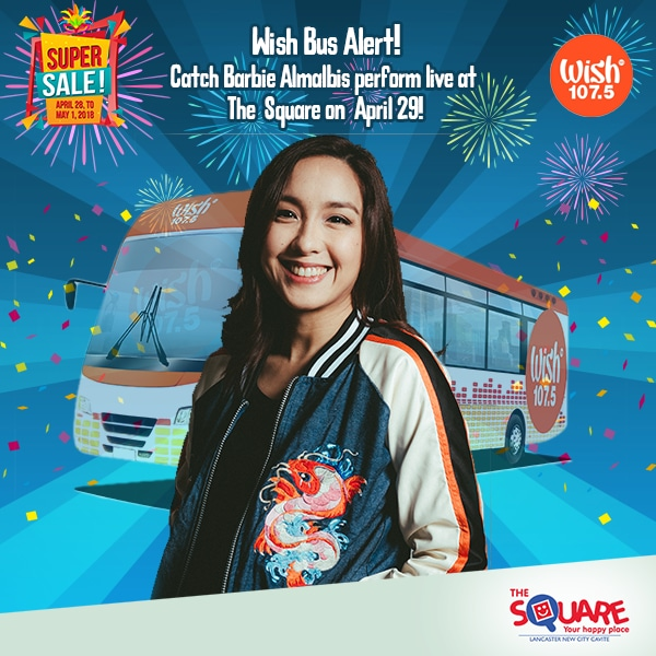 WISH 107.5 BUS ON  APRIL 29 AT THE SQUARE – LANCASTER NEW CITY
